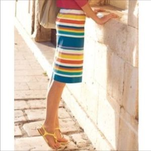 Boden Striped Lined Pencil Skirt 6R
